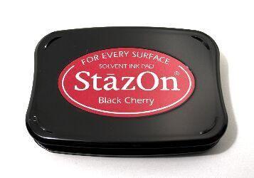 StazOn - тампон за всякаква твърда или гланцирана повърхност - Black Cherry