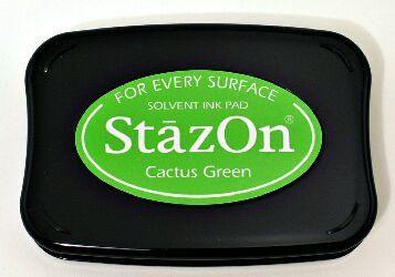 StazOn - тампон за всякаква твърда или гланцирана повърхност - Cactus Green