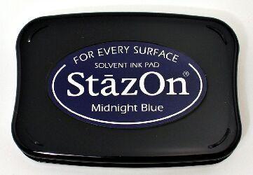 StazOn - тампон за всякаква твърда или гланцирана повърхност - Midnight Blue