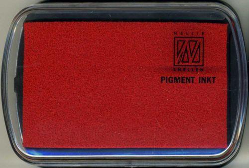 Nellie INKPAD - Голям пигментен тампон RED
