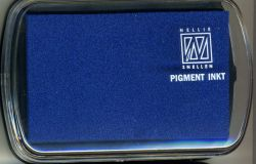 Nellie INKPAD - Голям пигментен тампон NAVY BLUE