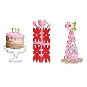 Sizzlits Die - Cake, Gift & Part Hat - Щанци за рязане