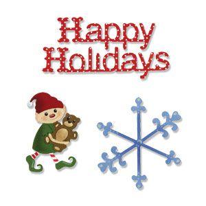 Rachael Bright & E. Humble - Happy Holidays - Щанци за рязане