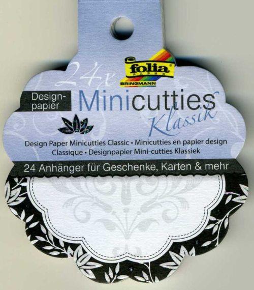 FOLIA TAGS - 24бр дизайнерски тагове/етикети с брокат 10 см.