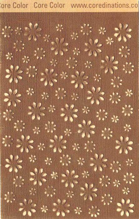 Core`dinations,USA 30.5x30.5 cm. - Картон с различен цвят сърцевина - BROWNIE