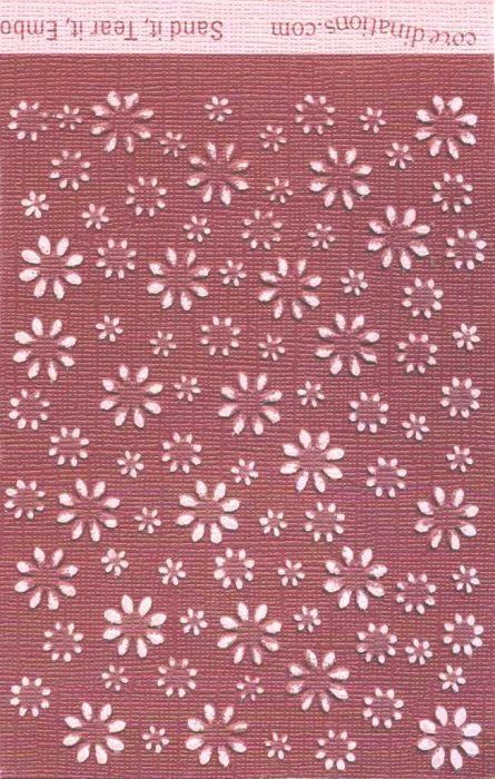 Core`dinations,USA 30.5x30.5 cm. - Картон с различен цвят сърцевина - BURGUNDY