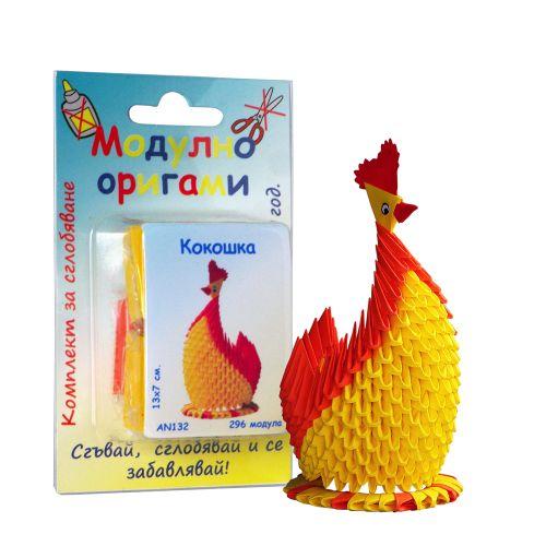 """Комплект Модулно оригами """"Кокошка"""""""