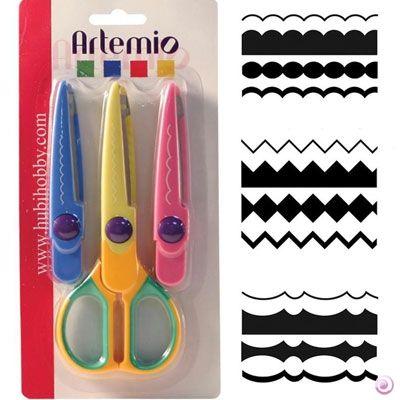 DECO scissors 08 by ARTEMIO - Контурна ножица с 3 вида сменяеми върхове