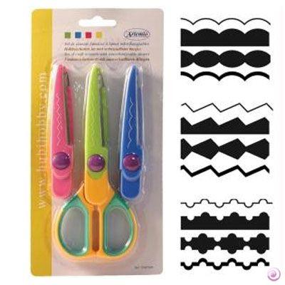 DECO scissors 09 by ARTEMIO - Контурна ножица с 3 вида сменяеми върхове