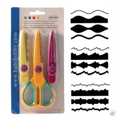 DECO scissors 11 by ARTEMIO  - Контурна ножица с 3 вида сменяеми върхове