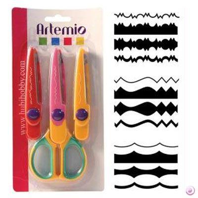 DECO scissors 12 by ARTEMIO - Контурна ножица с 3 вида сменяеми върхове