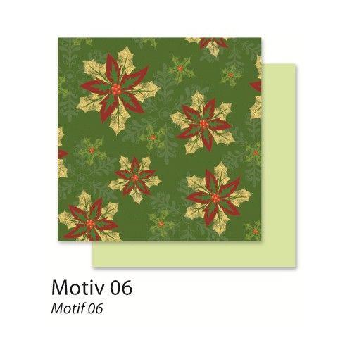 FB Christmas 06 - Дизайнерски картон с ембос-глитер елементи - 30,5 Х 30,5 см.