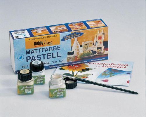 HobbyLine PASTELL FARBE -Акрилни бои за декорация 6 цв /Пастелна гама