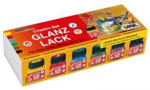 HobbyLine GLANZ LACK -Aкрилни декор бои 6 цв.  Гланц ефект