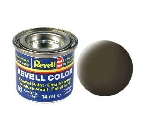 Емайл боя Revell - зеленикаво - черен мат 140