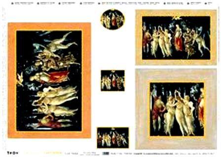 TO-DO PRECIOUS ORIGINAL -Хартия за декупаж със златен печат 50Х70 см. made in Italy
