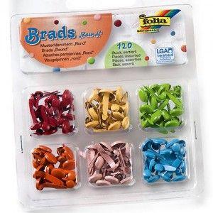 BRADS FOLIA  - Комплект брадс 6 вида / 120 бр.