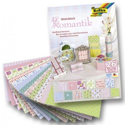 FB  ROMANCE PAD - Дизайнерски блок 26л / 34х24cm