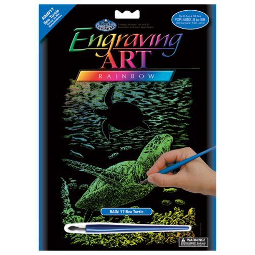 R&L,USA Engraving Art А4 - Картина за гравиране -Rainbow