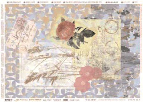 Хартия за декупаж със златен печат 50Х70 см. made in Italy - PRECIOUS ORIGINAL