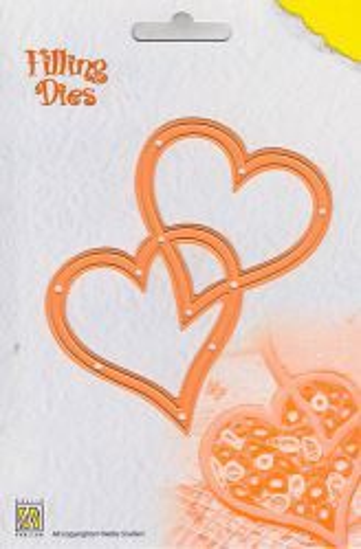 HEARTS by Nellie Snellen QD002 - Детайлен шаблон за рязане