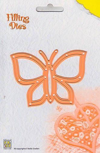 BUTTERFLY Nellie Snellen QD004 - Детайлен шаблон за рязане